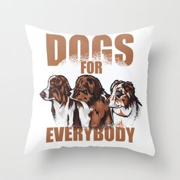 Dogs for Everybody Throw Pillow