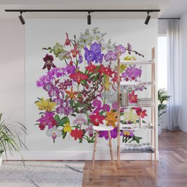 A celebration of orchids Wall Mural
