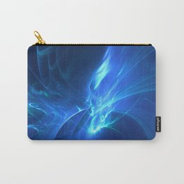 Electric Blue Fractal Carry-All Pouch