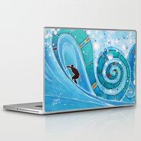 surfer Laptop & iPad Skins featuring Surfer by ArtSeriously