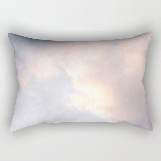Creamy Clouds Rectangular Pillow