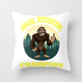 Big Foot Social Distancing Funny Throw Pillow