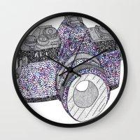 camera Wall Clocks featuring camera by Dal Sohal