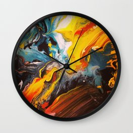 Chaos in Color Wall Clock