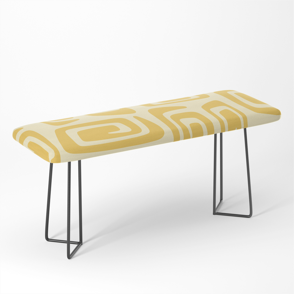 Mid_Century_Modern_Cosmic_Abstract_515_Yellow_On_Yellow_Bench_by_tonymagner