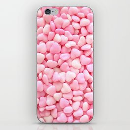 Pink Candy Hearts iPhone Skin