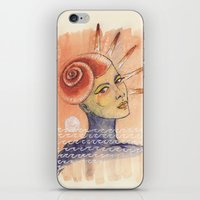 seashell iPhone & iPod Skins featuring Seashell by Marti Ferrer
