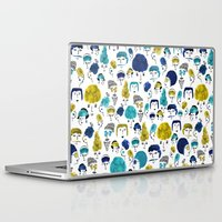 faces Laptop & iPad Skins featuring Faces by Sahily Tallet Yip