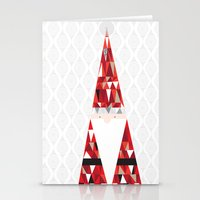 santa Stationery Cards featuring SANTA by Pardabon