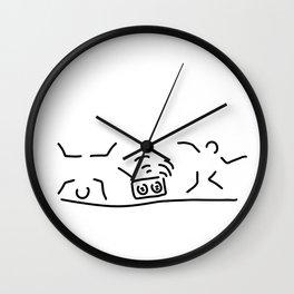 hiphop rap streetdance dancers Wall Clock