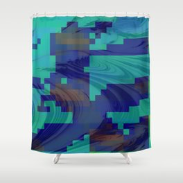 Waves abstract 1 Shower Curtain