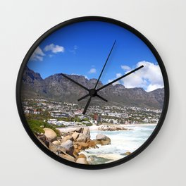Lovely Cape Town, South Africa Wall Clock