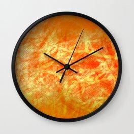 Microcosmos of Chaos (Orange Version) Wall Clock