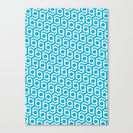 Modern Hive Geometric Repeat Pattern Canvas Print