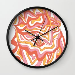 orbs: 1960's psychedelic festival Wall Clock