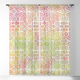 DP050-9 Colorful Moroccan pattern Sheer Curtain