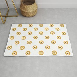 Yellow devil eye pattern Rug