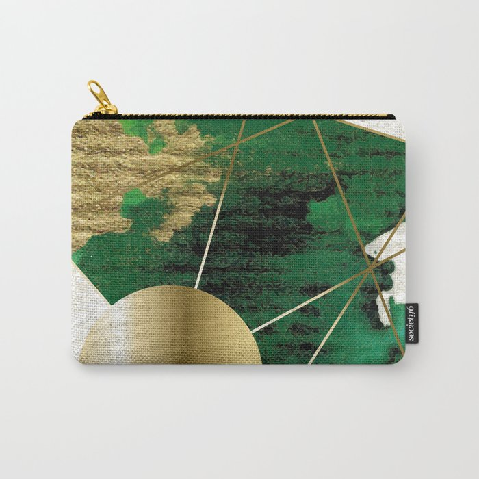 Clair de la lune on Green Carry-All Pouch