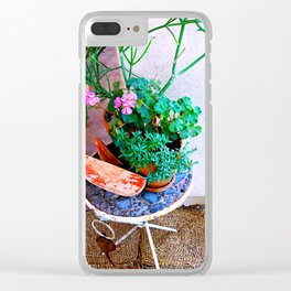 Watermelon Patio Summer Clear iPhone Case