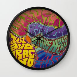 Dust and Drag Wall Clock