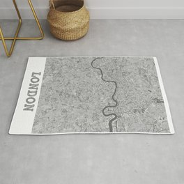 London Pencil City Map Rug