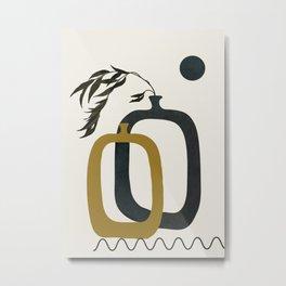 Minimalist Geometric Art II Metal Print