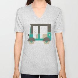 Doodle Auto Rickshaw Unisex V-Neck