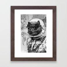 Space Kitten Framed Art Print
