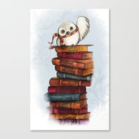 hedwig Canvas Prints featuring Hedwig by Sam Skyler