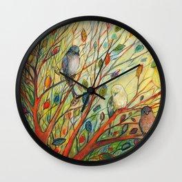 Waiting in a Rainbow Tree Wall Clock