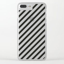 Black Grid Clear iPhone Case