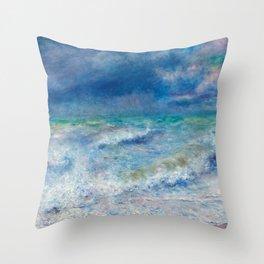 Seascape Ocean Blue Colors Throw Pillow
