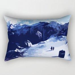 Tardis Art At The Snow Mountain Rectangular Pillow