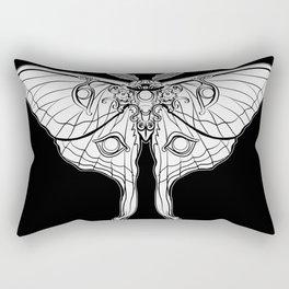 Art Nouveau Moth (black background) Rectangular Pillow