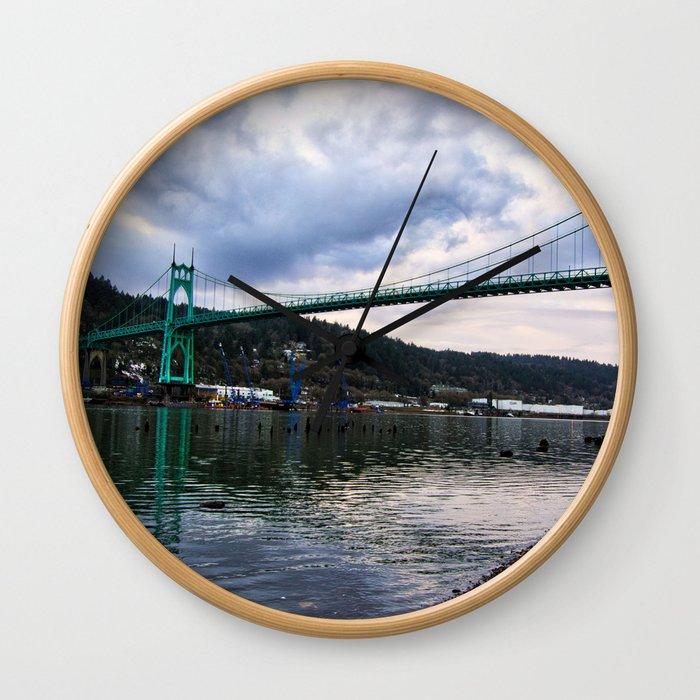 St. Johns Bridge Wall Clock