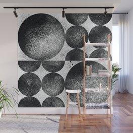 Monochrome Bauhaus Mid Century Abstract Pattern (2/2) Wall Mural