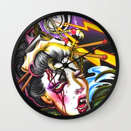 Geishas Nightmare Wall Clock