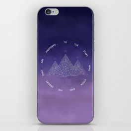 To The Stars Who Listen And The Dreams That Are Answered iPhone Skin