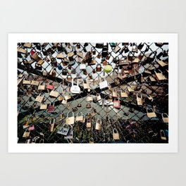 Paris Locks Art Print