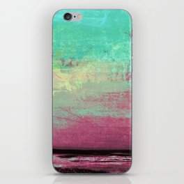 Green Color Patches iPhone Skin