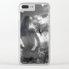 0250-GI BW Infrared Fine Art Nude Seeing Into Oneself Clear iPhone Case