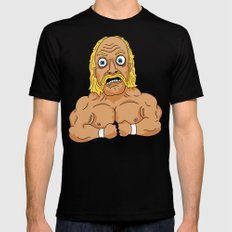 HULKAMANIA  Black LARGE Mens Fitted Tee
