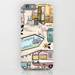 Vintage Glamping Camping Style iPhone Case