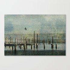 Pelicans Landing Canvas Print
