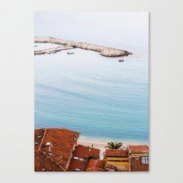 Menton Seaside - Côte d'Azur Canvas Print