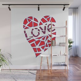 Mosaic Love Heart to claim a partner. Wall Mural