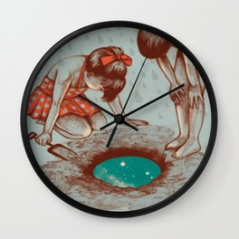 Digging into Space Wall Clock