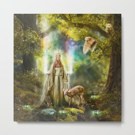 Faerie Queen of Light Metal Print