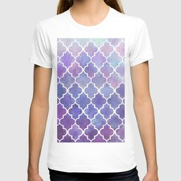 Purples & Pinks Watercolor Moroccan Pattern T-shirt