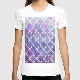 Purples & Pinks Watercolor Moroccan Pattern T-shirt